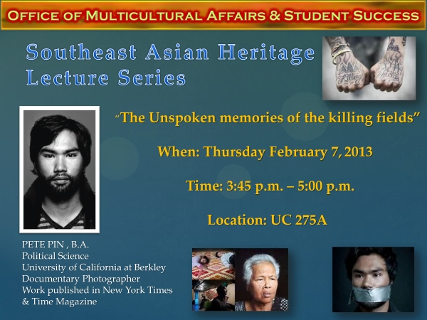 Southeast Asian Heritage  Lecture Series